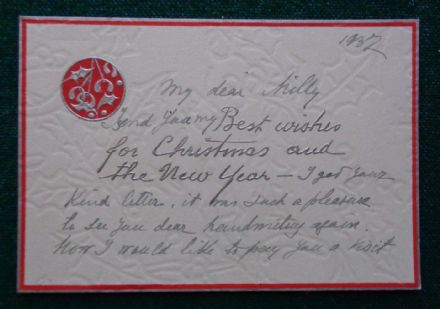 Grand Duke Andrei Romanov Imperial Russia Antique Christmas Card Sent to Nanny